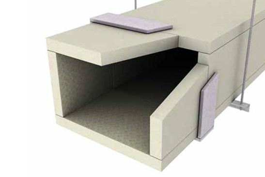 Gaines de ventilation en panneaux coupe-feu