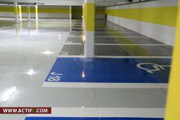 Revêtement De Sol Parking En Résine époxy + Marquage Au Sol